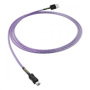 Leif Purple Flare (3 m) - USB A 2.0 vers Mini USB B
